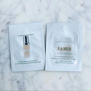 La Mer foundation and soft cream samples